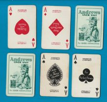 Collectable advertising playing cards for Andrews liver salt